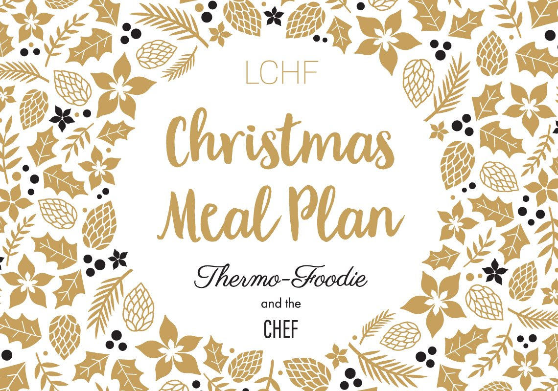 LCHF christmas meal plan