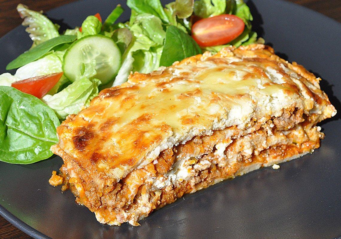 LCHF keto banting lasagne pasta